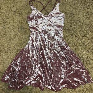 Pink Velvet American Eagle dress